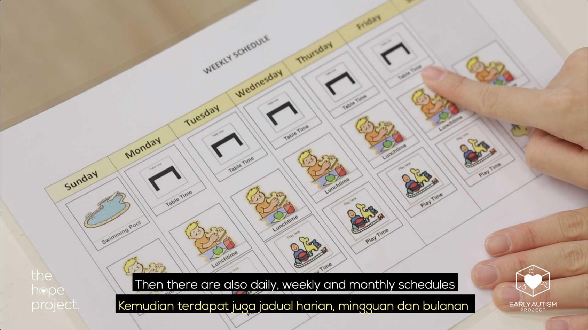 Mengikuti Jadual Autism At Home